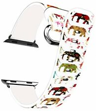 IWatch Band 38mm Women Genuine Leather Replacement Colorful Cute Animal - 2 2 1