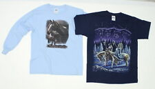 NEW Gildan Ultra Cotton LOT OF 2 Youth Graphic Tees Blue and Navy Medium 02448