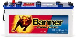 Batterie solaire camping ca banner energy bull 96801 12v 230ah à decharge lente