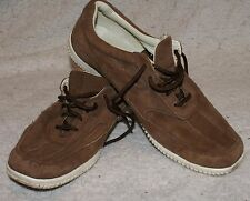 LANDS END brown suede shoes size 5 UK