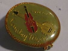 COUNTRY WESTERN GUITAR METAL LAPEL PIN VINTAGE 2  NEW FROM LATE 80'S METAL