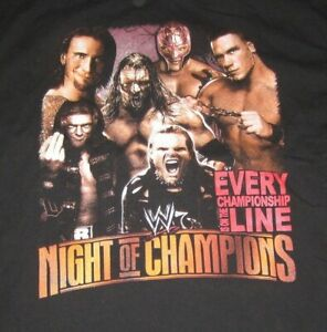 WWE Night of Champions REY MYSTERIO (XL) T-Shirt CM PUNK EDGE JEFF HARDY CENA