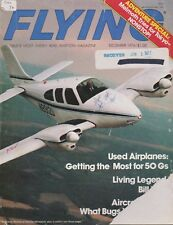 Flying Magazine (Dec 1976) (Cessna 441 Poster, King Air B100, William P. Lear)