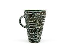 GORKA GEZA Blue Green Black Art Deco Vase FISHES Hungarian Artist