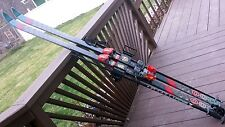 COMPOSIT DOWNHILL 7.2 SKIS 194cm WITH BINDINGS, INCL. 2 SKI POLES & SKI TOTE