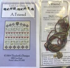 A Friend Shoulder to Lean On Cross Stitch Little Leaf Elizabeth's Designs Charm