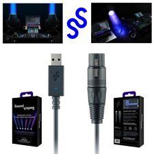 More details for soundswitch dmx micro interface usb dmx xlr dj disco lighting connector
