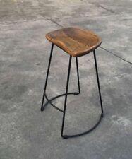 Modani  Modern Steel Walnut Oak Seat Bar Stool Matt Blatt King Living Adriatic