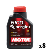 8 Litri LT Olio Motore Auto Motul 6100 Synergie+ 10W40 ACEA A3/B4