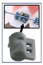 Dental Orthodontic Elastomeric Elastics Rotation Wedges, Silver-gray, 200pcs/bag