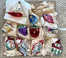 Set 12 Smithsonian Collection 1984 Glass Christmas Ornaments Nib West Germany