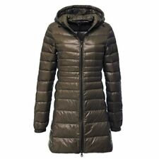Women's Packable Ultralight Long 90% Down Hooded Jacket Puffer Parka Coat S-6XL