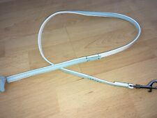 NEW Baby Blue / White LEATHER LEAD with Diamantes Small Dog / Puppy Leash BNWOT