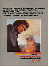 David Hasselhoff Knight Rider 1985 Ad- the series that never quits  MCA