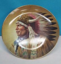"decorative plate by perillo ""Nobility of the Algonquin"""