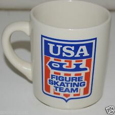 WOW Nice Vintage USA Figure Skating Team Coffee Mug Cup Rare