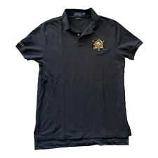 New listing US POLO ASSN Mens Medium Embroidered Black Polo Horse Pony Logo Rugby Shirt