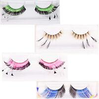 Rubies Colored Diamond Eyelashes w/ Adhesive Faux Cils PLUR Novelty