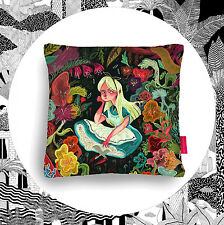 Alice In Wonderland Cushion- Ohh Deer Pillow Illustrated Graphic Pillow & Inner