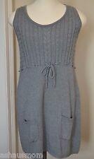 Gray Sweater Dress Sheath Romper Sleeveless Modest Sz XL Aeropostale Ribbed NWT
