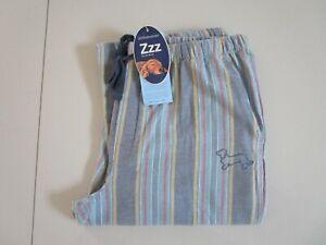 Peter Alexander Men's Stripe Long Flannelette Pyjama / Lounge Pants  Size L