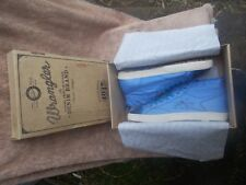 WRANGLER,CASUAL LOAFER/BOAT SHOES SIZE 42 BLUE CANVAS UNISEX NEW-WT IN BOX