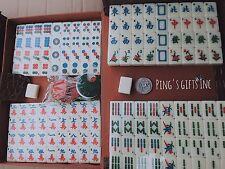 Mini mah-jong set Ivory 144 tiles Travel pack with Portable Mahjong Box