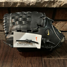 "Nike Pro Gold Tradition Elite 12"" Black Baseball Glove Left Hand Throw NWT RARE"