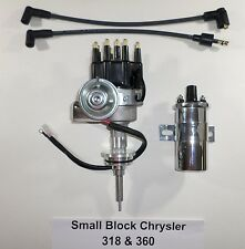 Chrysler Small Block 273-318-340-360 Black CAP HEI Distributor + Chrome 45K Coil