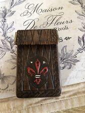 Vintage Old Leather Card Holder/cigarette Case (?)
