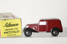 Dickie SHUCO Piccolo 1:90 MERCEDES 170v FURGONETA - rojo, emb.orig (84159)