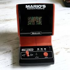 Vintage Nintendo Video Game Watch Table Top Mario's Cement Factory 1983 RARE HTF