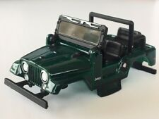 New AW Green Jeep CJ-5 Xtraction HO Slot Car Body Fits Aurora Mag Trac Chassis