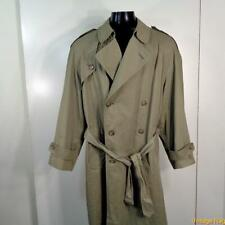 LONDON FOG Long RAINCOAT Rain Trench Coat Mens M Size 40 40S Sage green belted