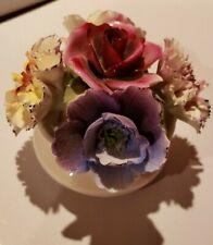 Vintage Aristocrat, England, Bone China Bouquet Flowers in Pot, Excellent!!