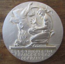 ANCIENNE MEDAILLE BRONZE ELECTRICITE DE FRANCE GAZ DROPSY 30 ANNEES SERVICE