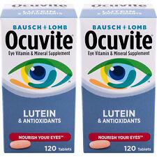 2 упаковки Bausch & Lomb ocuvite глаз витаминный и минеральная добавка с лютеин 120 EA