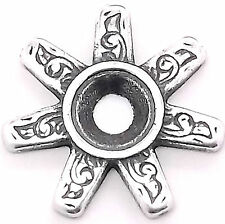 "Spurs Bezel Concho in Antique Silver 3/4"" 7785-12"
