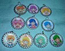 LOT 10 Sailor moon manga anime cute art pendant / keyring accessories bottle cap