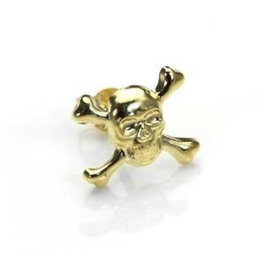 9ct Gold Skull & Crossbones Ear Stud / Mens Earrings / Studs / Earring