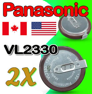 2 Pieces VL2330 /HFN Rechargeable Land rover / Rang rover Key Fob Battery 3V