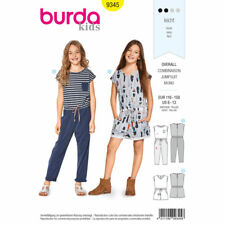Burda Kids Easy SEWING PATTERN 9345 Girls Long/Short Jumpsuit Age 6-13