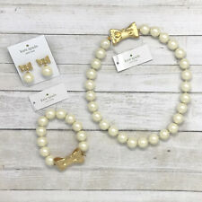 Kate Spade All Wrapped up in Pearls Cream/gold Short Necklace O0ru2700