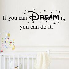 If You Can Dream It You Can Do It Wall Sticker Self-adhesive Inspiring Sentence