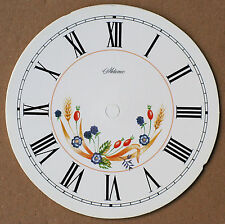 5.3/4 inch FLORAL CLOCK DIAL OF AUTUMN FRUITS