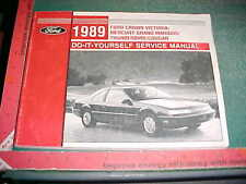 1989 CROWN VICTORIA GRAND MARQUIS THUNDERBIRD COUGAR  DO IT YOURSELF MANUAL vg