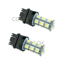 2 Pcs CosMox Xenon White 18 SMD LED Bulbs for 7440 7443 7444 W21W T20 990 991