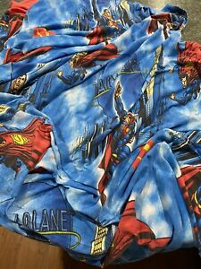 Vintage DC Comics Superman Daily Planet Full Sized Flat Bed Sheet