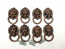Dresser Drawer Cabinet Door Ring Lion Head Pull Handle Knob 8pcs A