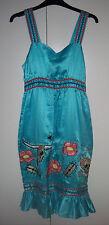 LAURA LEES Sz XS BNWT 100% Silk Sunny Dress
